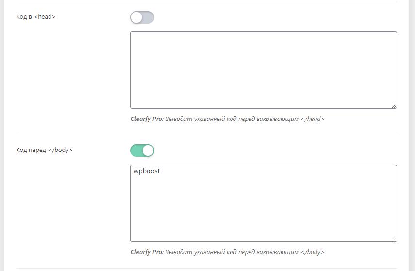 добавить код в body wordpress